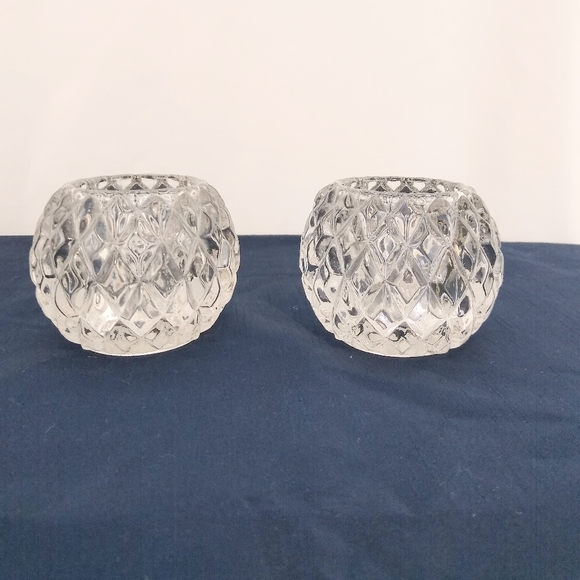 Partylite Rockport pair candle holders